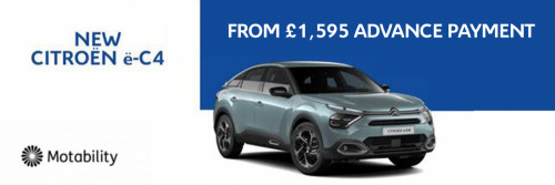 New e-C4 from £1,595 Advance Payment