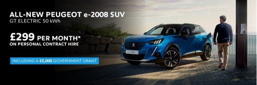 Peugeot e-2008 SUV - Exclusive Personal Contract Hire Offer