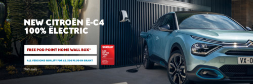New Citroen e-C4 Free PodPoint Home Charging Point