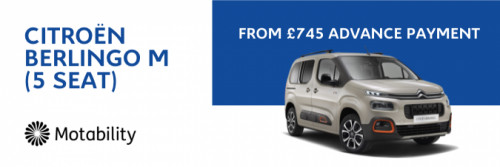 Berlingo 5 Seater from £745 Advance Payment