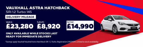 Vauxhall Astra - Nearly New Offer