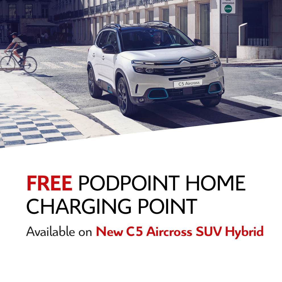 New Citroen C5 Aircross Hybrid Free PodPoint Home Charging Point