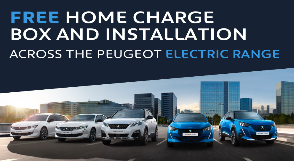 Peugeot Fully Electric & Hybrid Wallbox offer