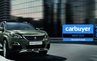 All-New 3008 SUV does the double at the Carbuyer Best Car Awards 2018