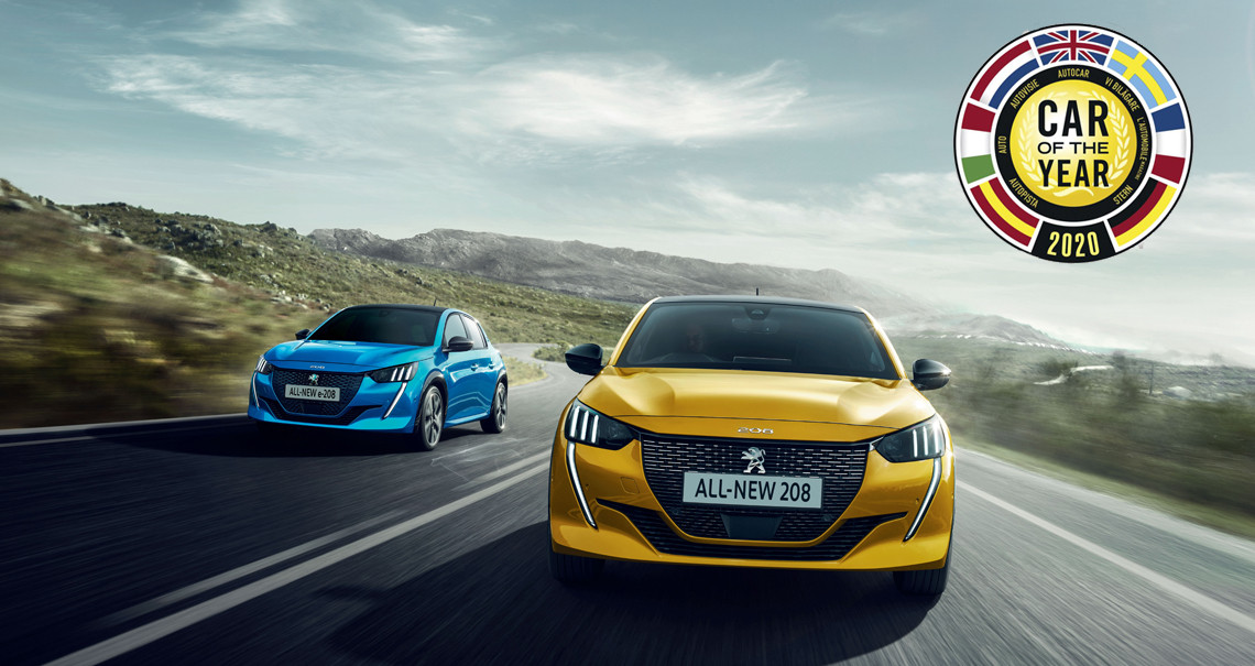 "All-New Peugeot 208 Named ""Car Of The Year 2020"