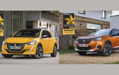 ALL-NEW PEUGEOT 208 AND 2008 SUV WIN AT FLEET NEWS AWARDS 2020
