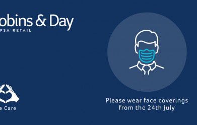Compulsory Wearing of Face Coverings from July 24th