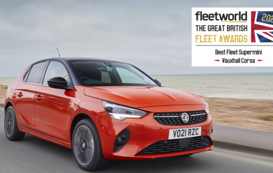 Vauxhall Corsa named 'Best Fleet Supermini' at 2021 Fleet World Great British Fleet Awards