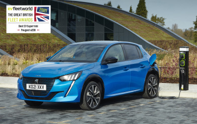 PEUGEOT e-208 named Best EV Supermini at 2021 Fleet World Great British Fleet Awards