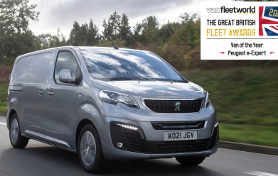 PEUGEOT celebrates double win at 2021 Van Fleet World Great British Fleet Awards